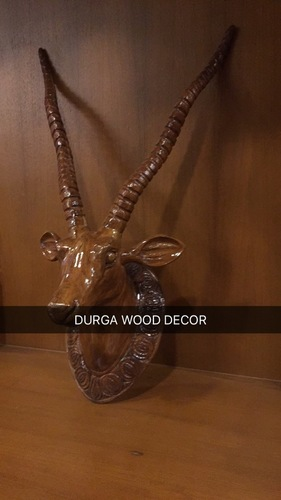 Wooden Deer Face