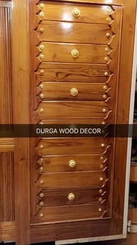 Wooden Door With Brass Fitting