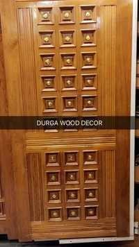 BRASS TEAKWOOD DOOR