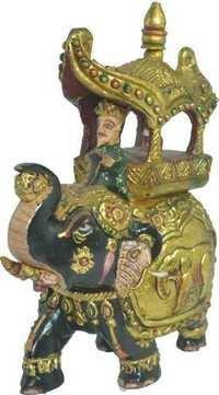 Handpainted Elephant Statue