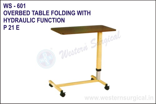 Overbed Table Folding With Hydraulic Function