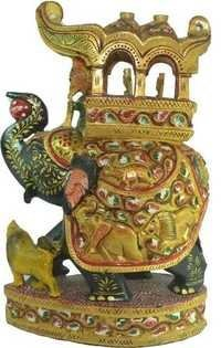 Beautiful Elephant Hand painted Statue