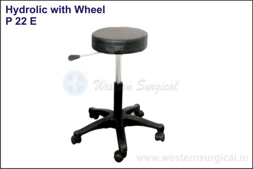 REVOLVING STOOL(hydrolic with wheel)