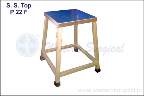 Bed Side Stool(S.S.Top)