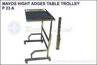 Mayos Hight Adgestable Trolley Complete Steel