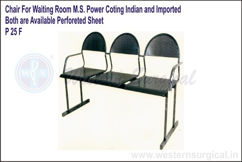 Chair For Waiting Room M.S. Power Coating Indian A