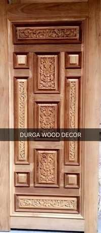 Carwed Teakwood Door
