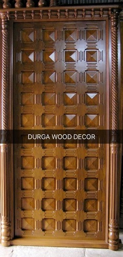 Unique Teak Wood Door
