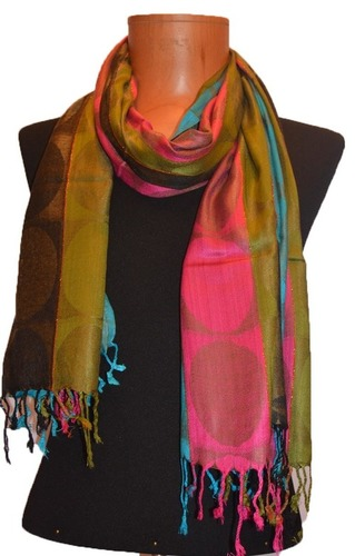 Viscose Multi Color Jacquard Stole
