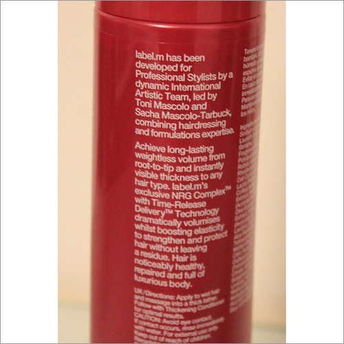 Conditioner Labels