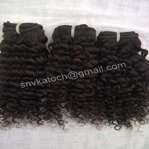 Steam processed kinky curly human hair