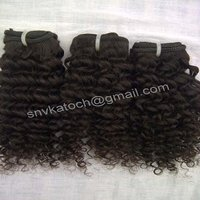 Steam processed kinky curly hair