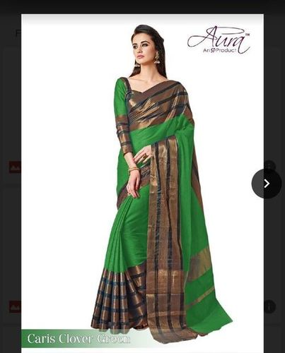 Designer Green Saree