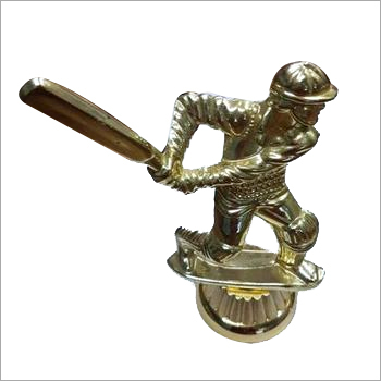Metallizing on Cricket Batsman Trophies