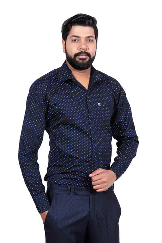 LONDON LOOKS MEN'S CASUAL POPLIN SHIRT