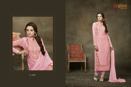 Buy Georgette Churidar Suit