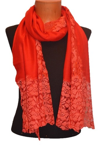 Laced Cashmere Stole