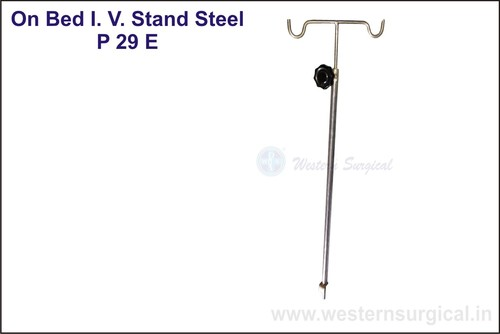 ON BED I.V STAND STEEL