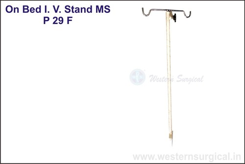 ON BED I.V. STAND MS