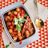 Chana Masala Full Plate