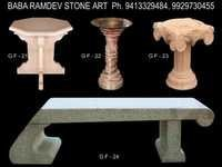 Stone garden lamps