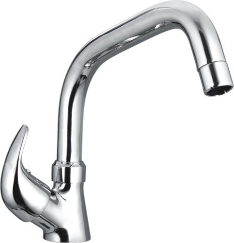Sink Cock With Swinging Extended Spout Table Mount