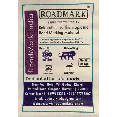 Thermoplastic Road Marking Material