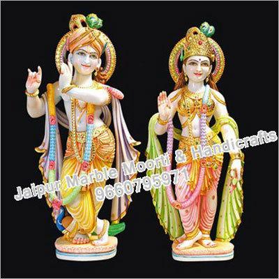 Marble Standing Radha Krishna Statue