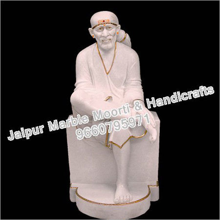 White Marble Sai Statue