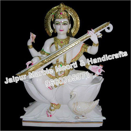 Marble Devi Saraswati Statue