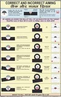 Correct & Incorrect Aiming Chart