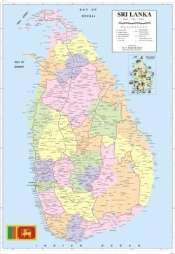 Sri Lanka Tourist Map