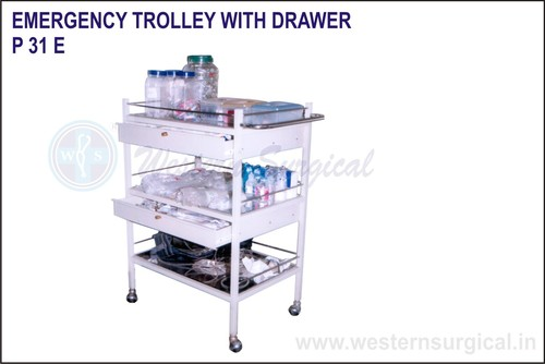 Emergency Trolley With Drawer