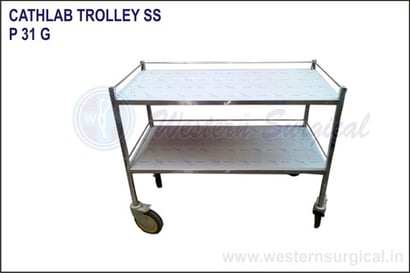 Stainsteel Cathlab Trolley Ss