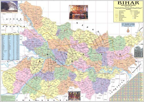 Bihar Political Cum Physical Map