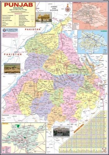 Punjab political Map