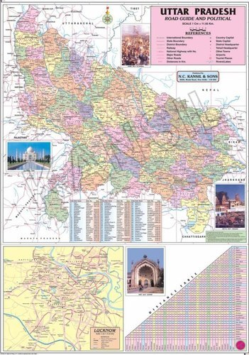 Uttar Pradesh Political Map