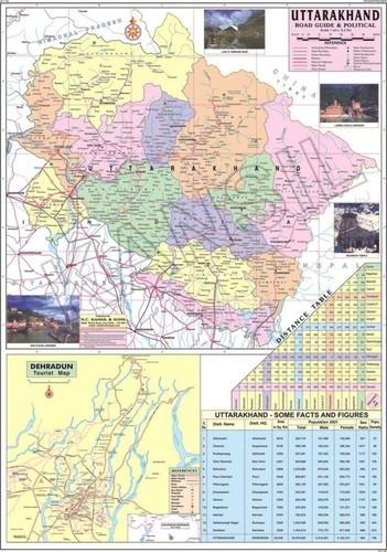 Uttarakhand Political Map