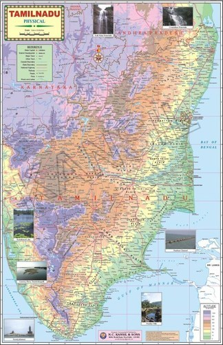 Tamilnadu Physical Map