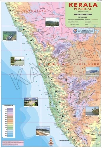 Kerala Physical Map