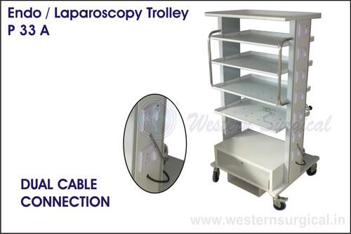 Endo/Laparoscopy Trolley & Dual cable connection
