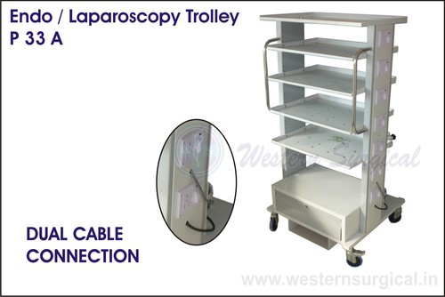 Endo/Laparoscopy Trolley & Dual cable connection