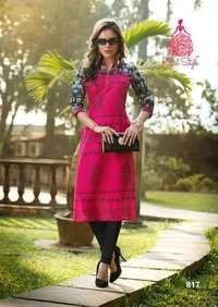 Printed Cotton Kurtis Wholesale Jetpur