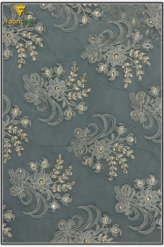 Hand Work Embroidery Fabric (953)