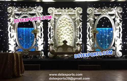 Asian Wedding Night Stage Panels