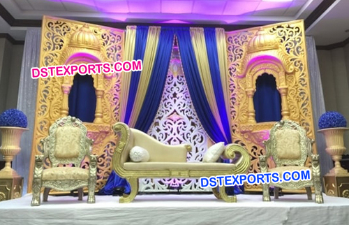 Jhrokha Panels Stage With Sofa Set