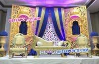 Jhrokha Panels Stage With Sofa Set