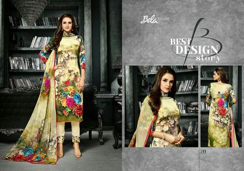 Buy Shaded Yellow Printed Suits