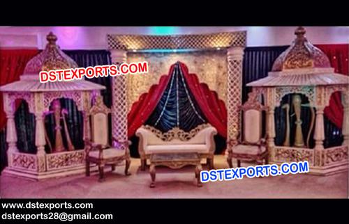 Nigerian Pakistani Wedding Stage Set