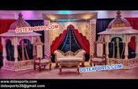 Nigerian Pakistani Wedding Stage Set
